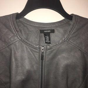 New Alfani Pleather Jacket